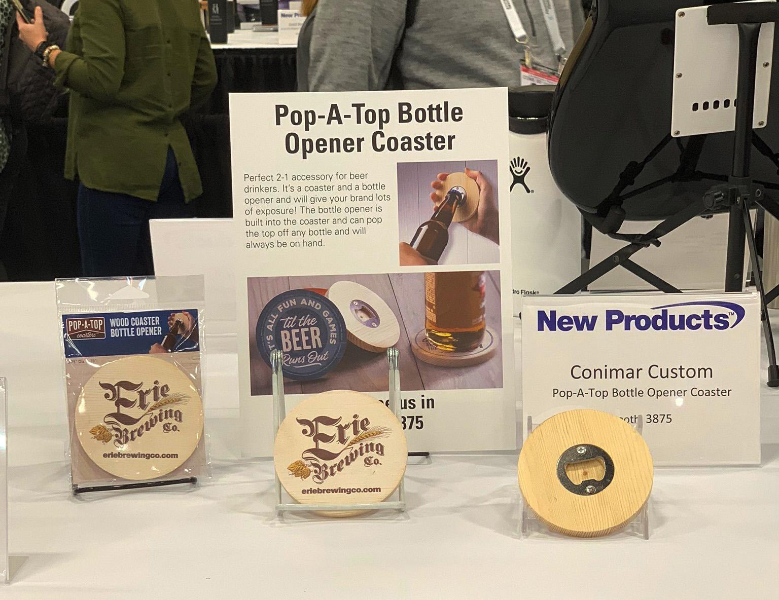 Pop-A-Top Bottle Opener Coaster