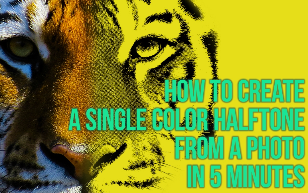 Create a one-color print ready file for a T-shirt  from a full color image in 5 minutes