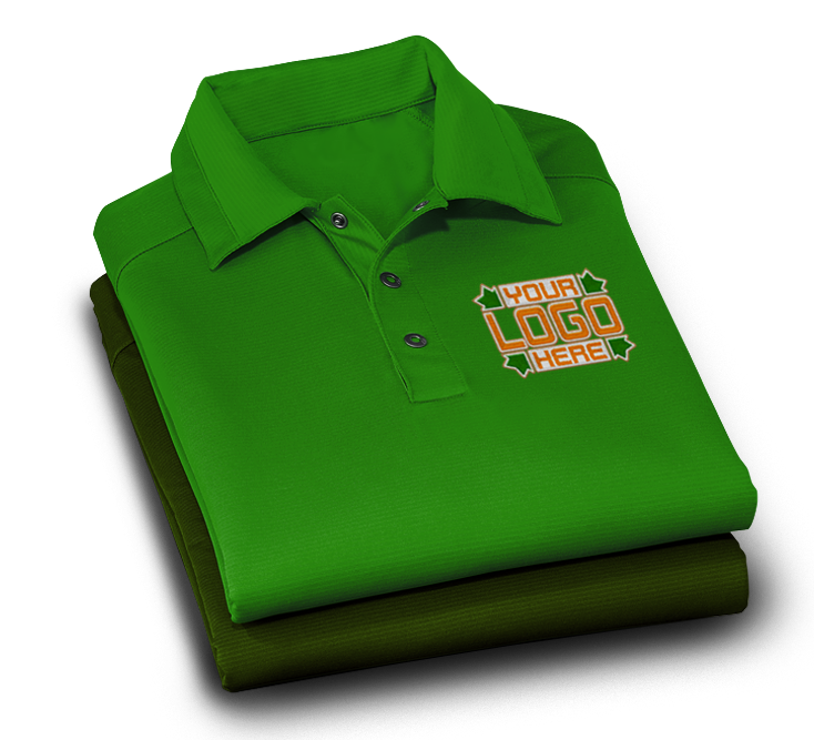 Embroidered Polo with Your Logo Here Left Chest