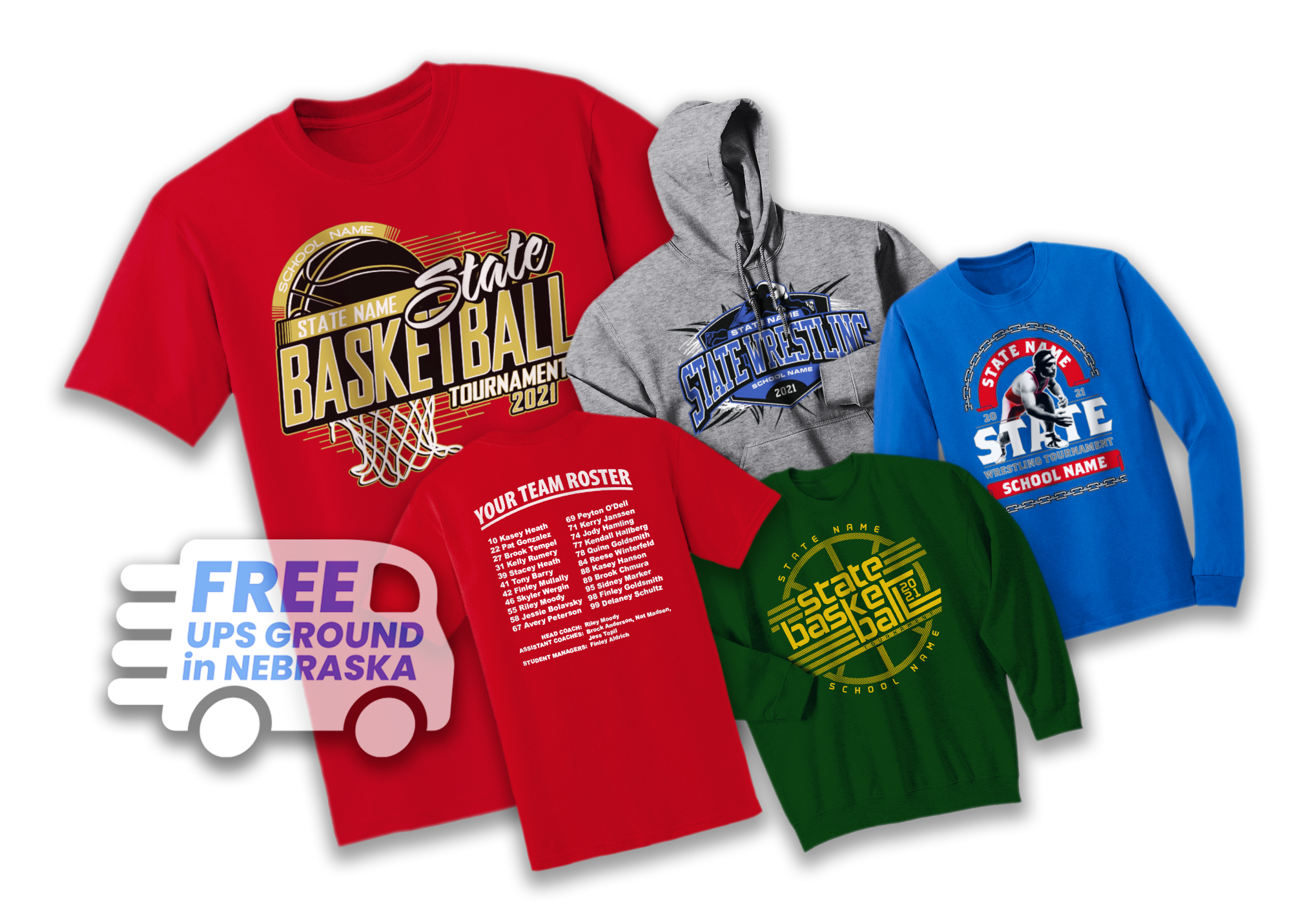 High School State Tournament T-shirts and Designs