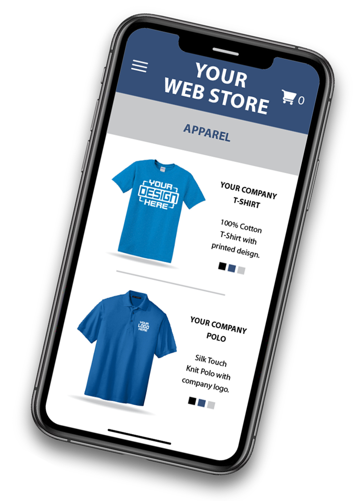 Web Store on an iphone